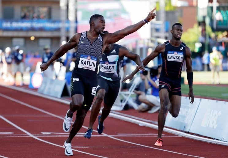 Gatlin and Bromell claim Rio 2016 places as Felix wins 400m at US Olympic Trials