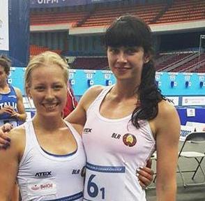 Arol Katsiaryna and Iryna Prasiantsova claimed gold for Belarus ©Belarusian Federation of Pentathlon