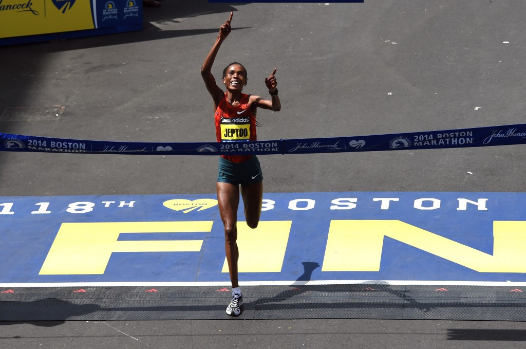 Rosa & Associati have several Kenyan athletes as clients, including Rita Jeptoo ©Getty Images