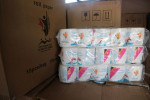 More than 830 boxes of packaged toilet paper have been removed from a business property in Gordon ©Port Moresby 2015