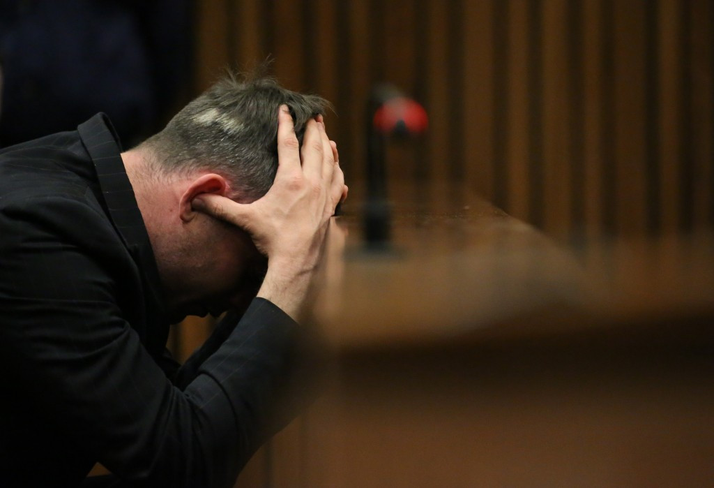 Oscar Pistorius pictured during his sentencing hearing in Pretoria last month ©Getty Images