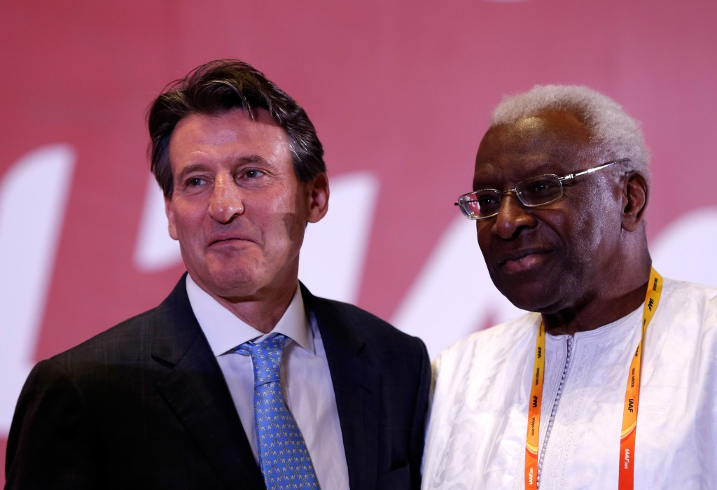 Many of the reforms today were manifesto proposals of new IAAF President Sebastian Coe, left, who is seeking to distance himself from the tainted previous regime of Lamine Diack ©Getty Images