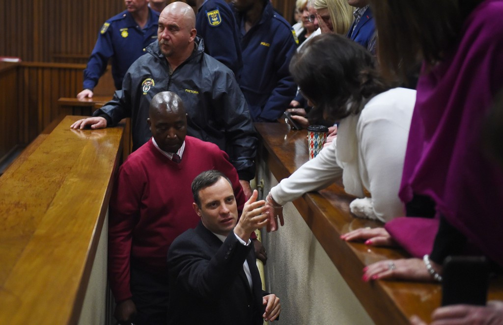 South African Oscar Pistorius was escorted straight to the cells following the verdict ©Getty Images