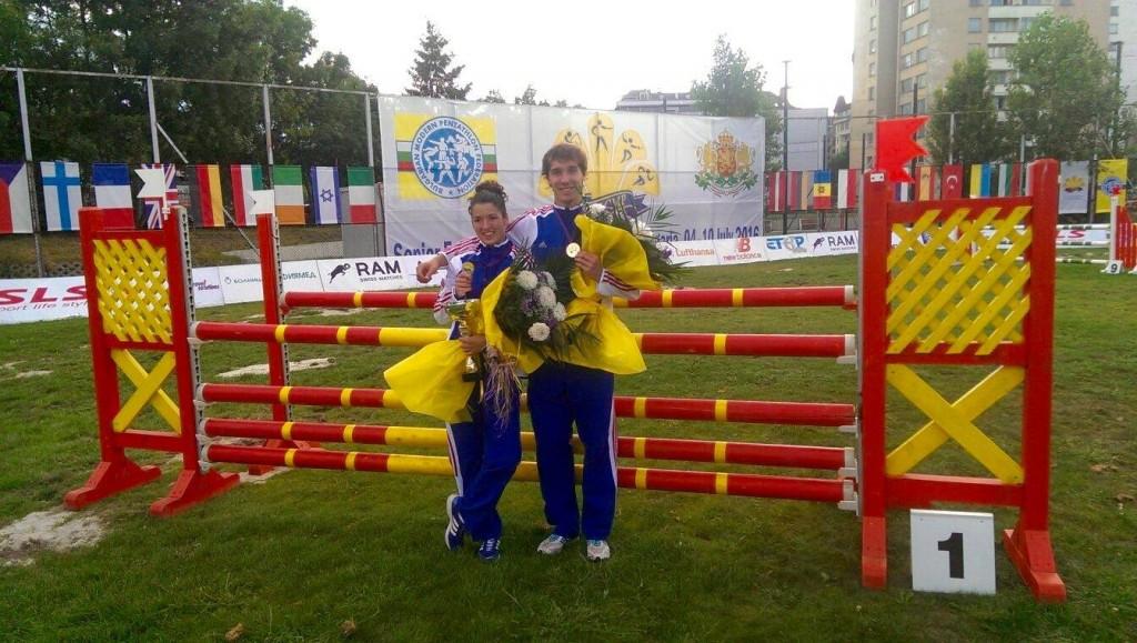 Natalie Dianová and Jan Kuf claimed mixed relay gold for Czech Republic ©Facebook/Czech Pentathlon