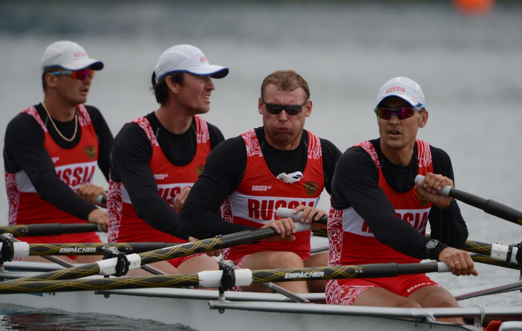 Russia's quadruple sculls crew are set to remain banned from Rio 2016 after the country's rowing federation dismissed reports they would appeal to the CAS ©Getty Images