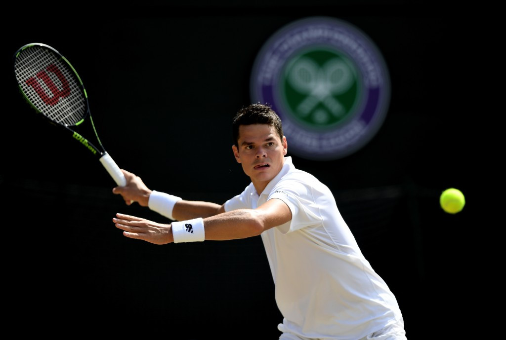 Canada's Milos Raonic will meet Roger Federer in the semi-finals after he beat American Sam Querrey ©Getty Images