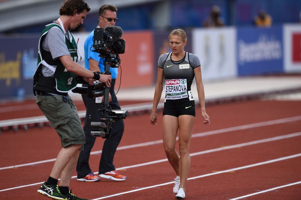 Stepanova finishes a lonely and injured last in Amsterdam - but refuses to rule out Rio 2016 appearance