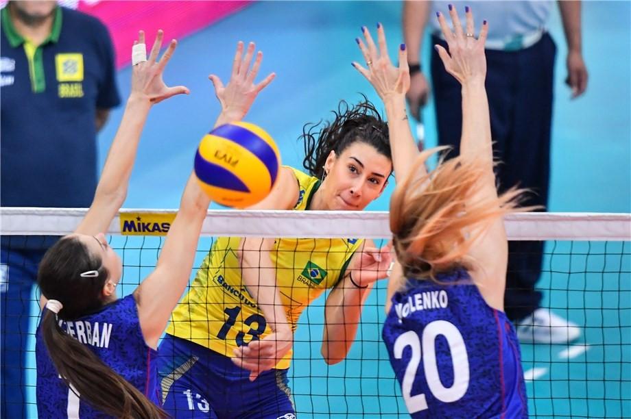 Brazil cruise into semi-finals at FIVB Grand Prix