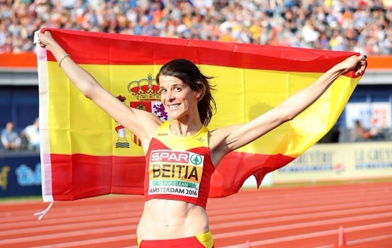 Ruth Beitia claimed the high jump gold medal for Spain ©Getty Images