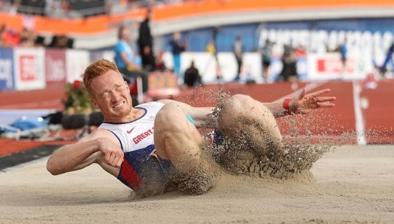 Greg Rutherford won one of two British gold medals on day two ©Getty Images