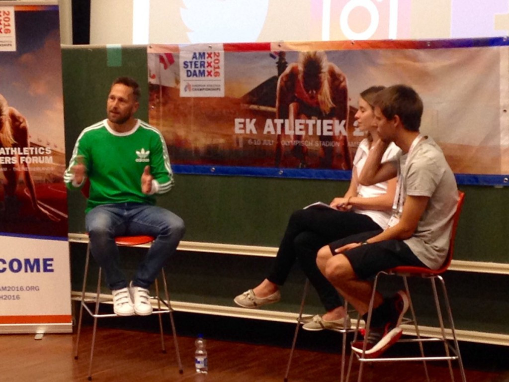 Pole vaulter Blom calls for stronger club unity at European Athletics Young Leaders Forum