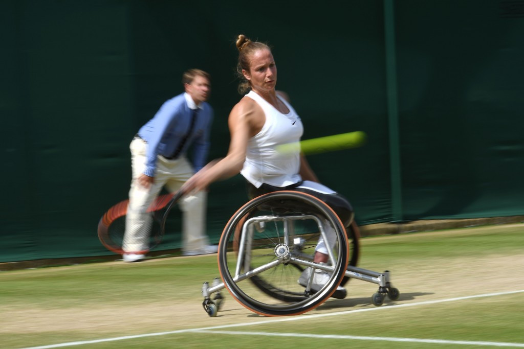 Griffioen makes history by becoming first wheelchair tennis singles champion at Wimbledon