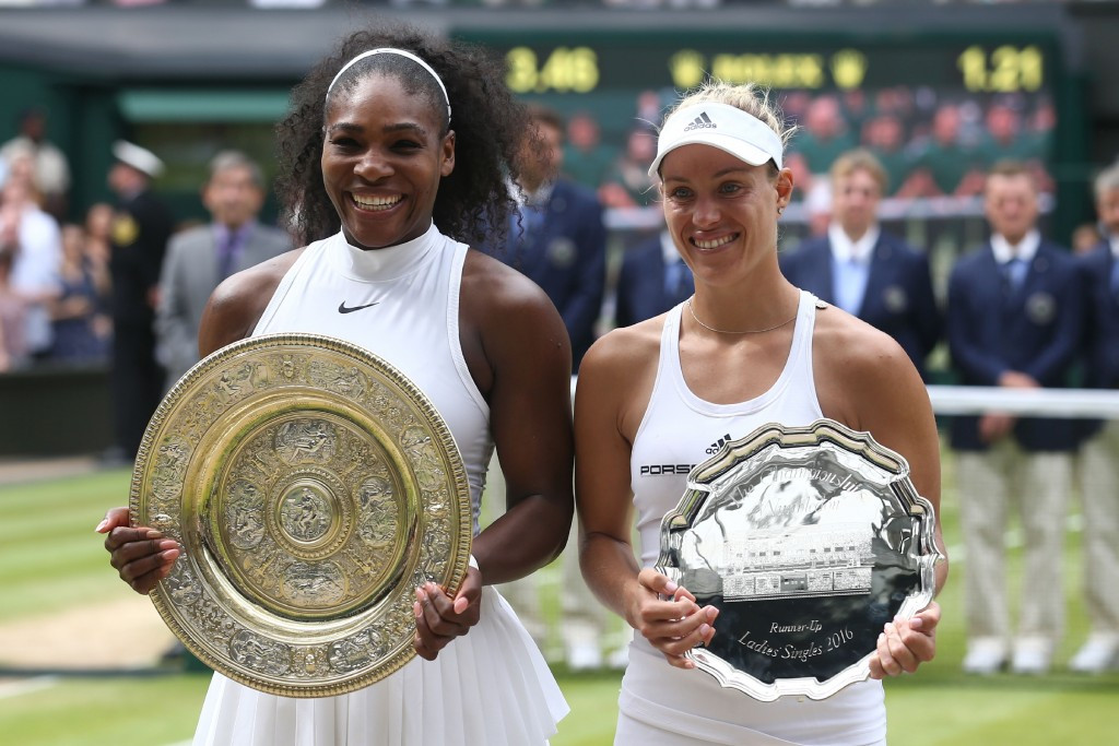 Williams draws level with Graf after downing Kerber in Wimbledon women's singles final