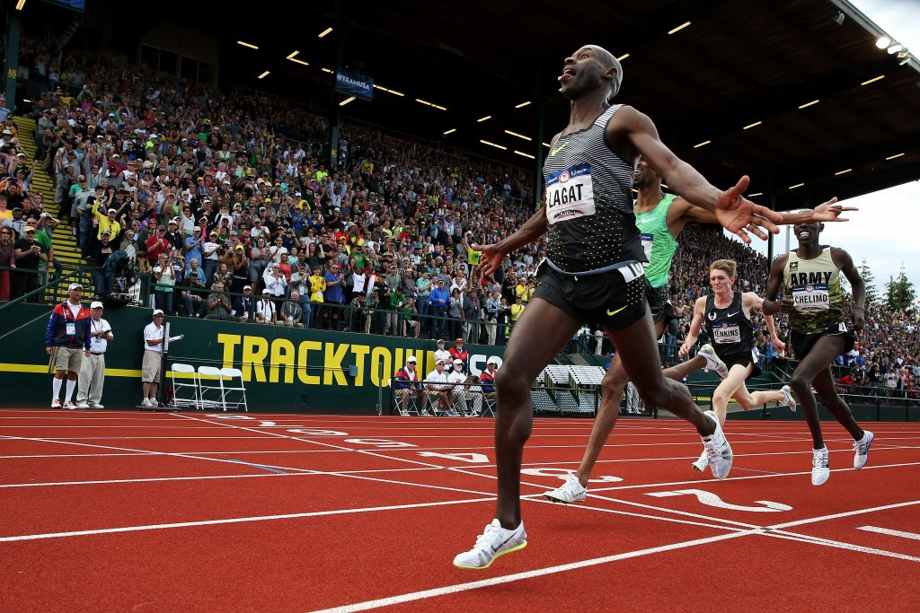 Bernard Lagat, 41, wins the 5000m at the US Olympic Track and Field trials ©Getty Images