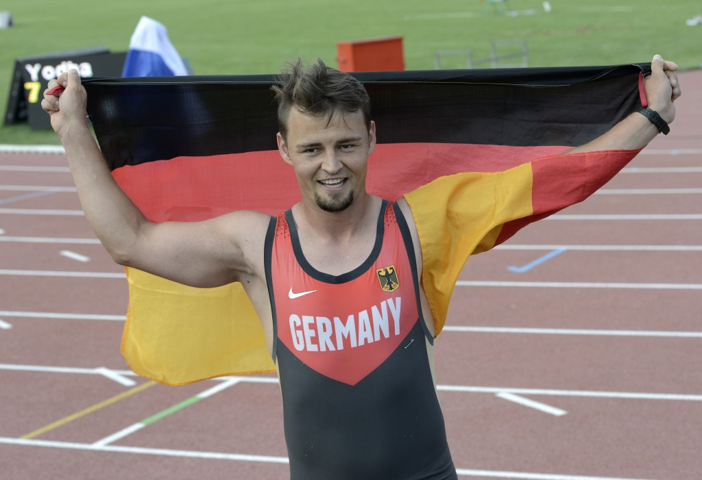 Heinrich Popow of Germany lowered the long jump T42 world record ©Getty Images