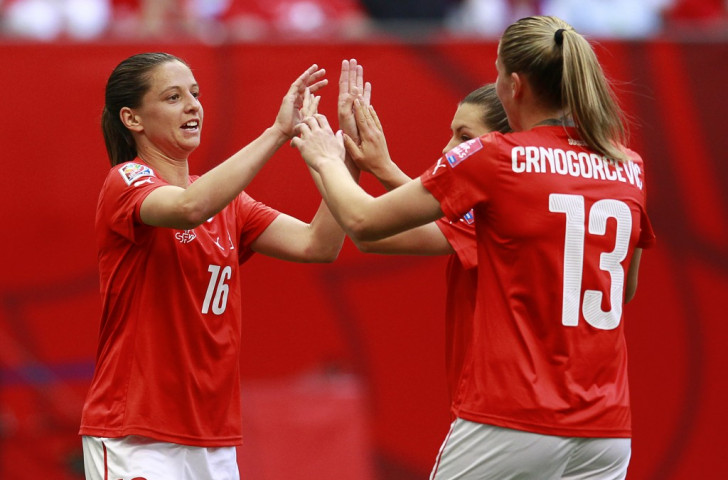 Fabienne Humm bagged a World Cup record hat-trick inside five minutes as Switzerland thrashed Ecuador ©Getty Images