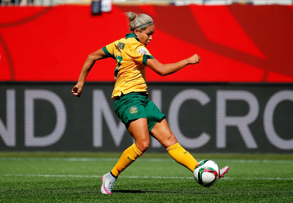Kyah Simon's double gave Australia a 2-0 victory over Nigeria