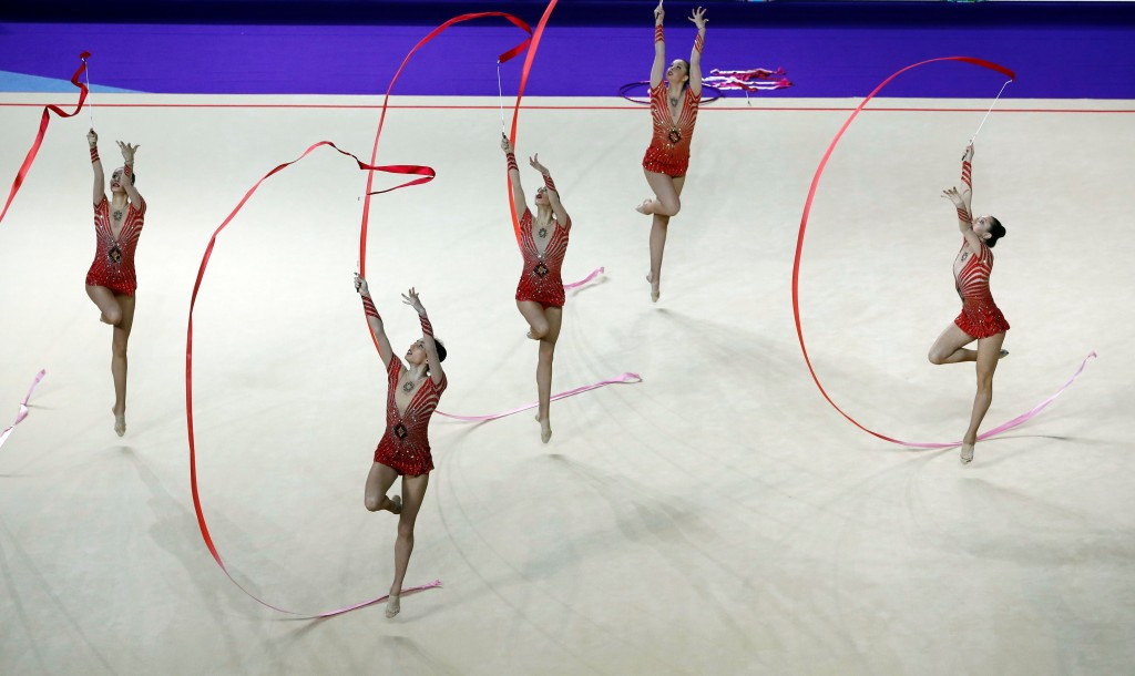 Bulgaria beat Russia to ribbons group gold at FIG Rhythmic Gymnastics World Cup