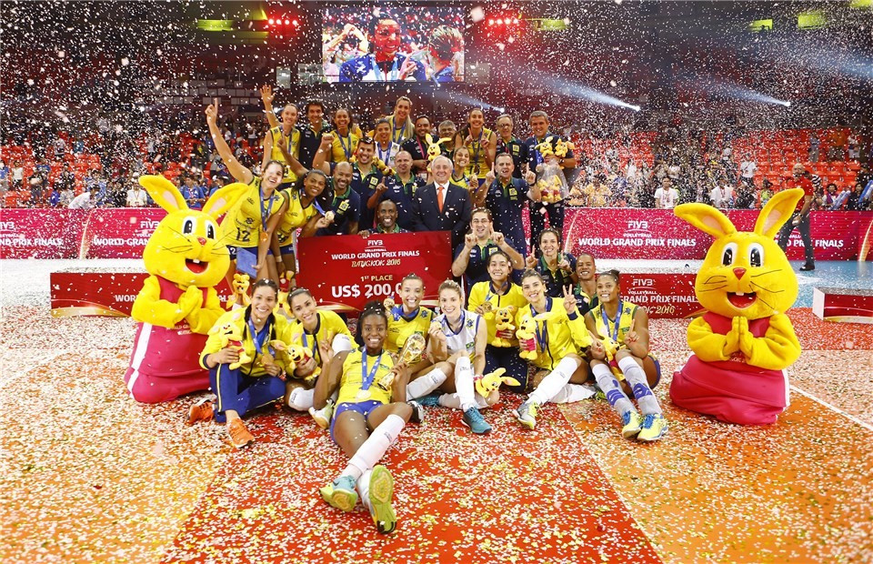 Brazil head into Rio 2016 in style after FIVB Grand Prix victory
