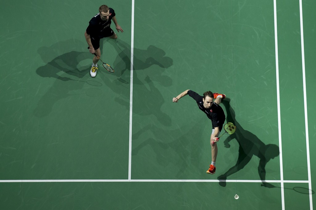 Carsten Mogensen and Mathias Boe won the men's doubles title in Los Angeles  ©Getty Images