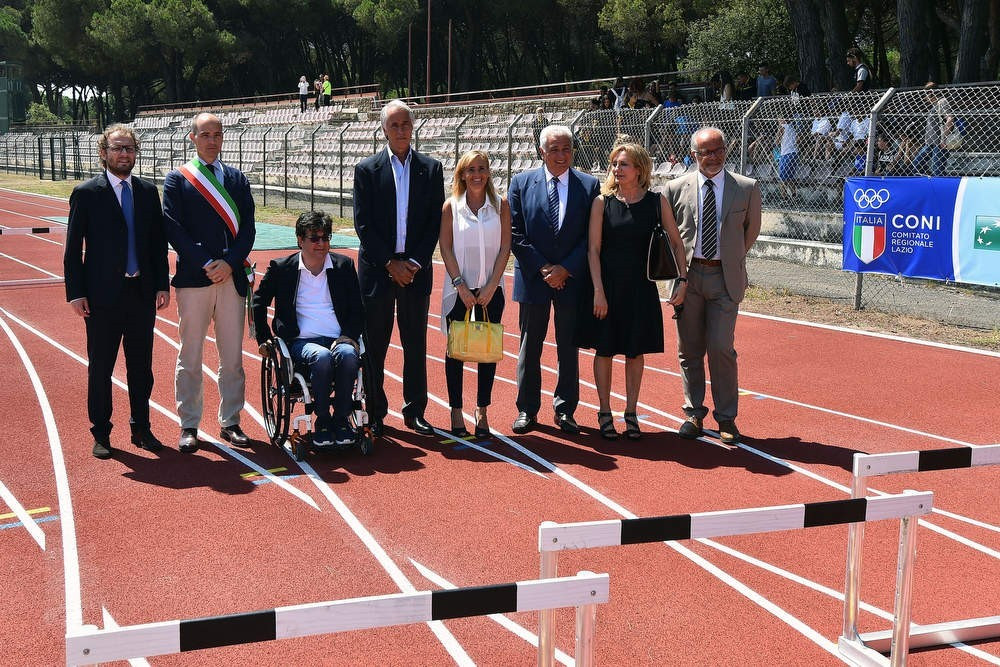 A meeting took place during the opening of a new athletics stadium today ©Rome 2024