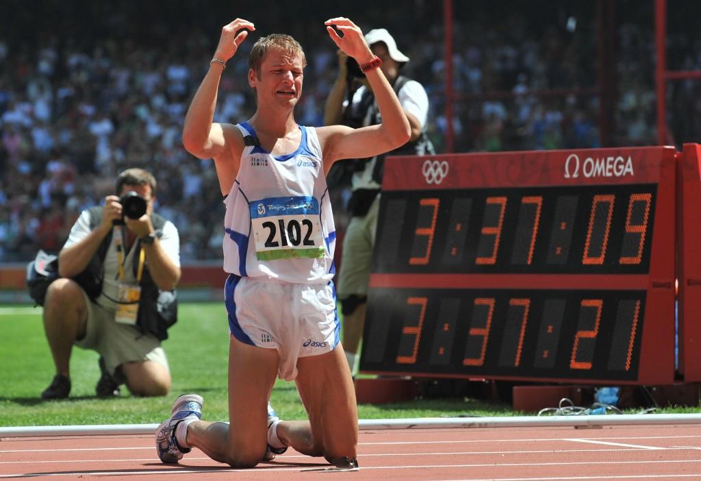 Alex Swasser gewinnt die 50 km der Männer bei den Olympischen Spielen 2008 in Peking © Getty Images