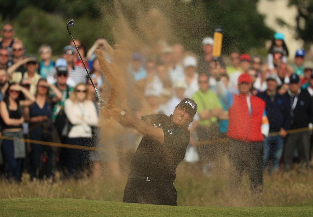 Mickelson narrowly misses record on first day of The Open