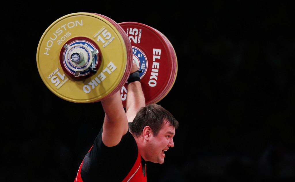 Russia's Alexey Lovchev was one of 17 athletes suspended for positive drug tests by the International Weightlifting Federation following the 2015 World Championships in Houston ©Getty Images