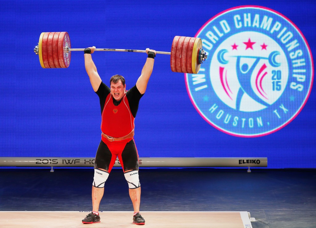 Alexey Lovchev failed for banned substance ipamorelin following his over 105kg victory at last year's World Championships in Houston ©Getty Images