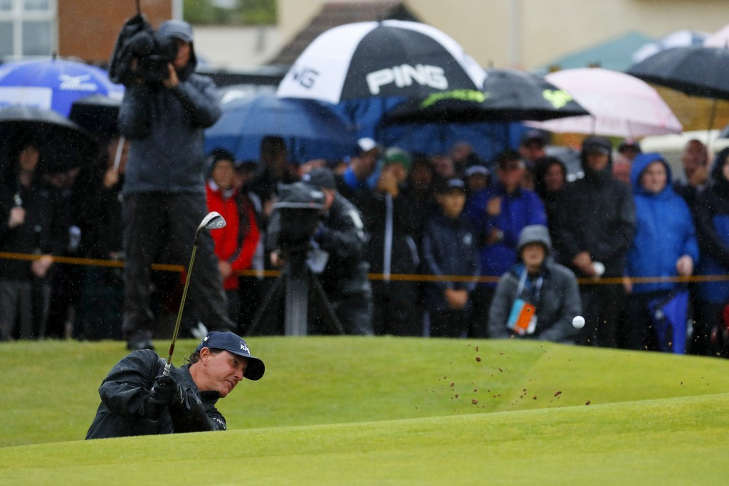 Mickelson retains lead but Stenson closes gap after second round at The Open Championship