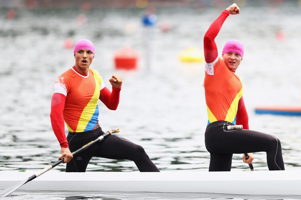 Romania's canoe sprint team has been banned for a year, along with Belarus ©Getty Images