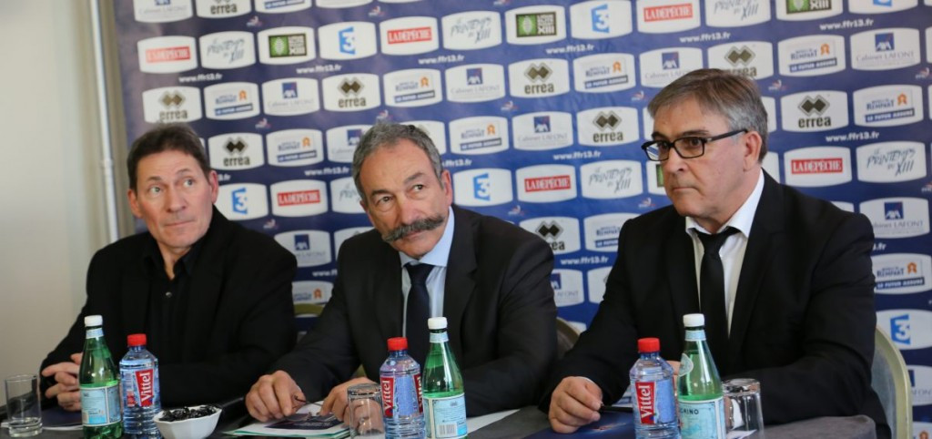 Carlos Zalduendo (centre) has resigned from the RLIF Board after being replaced as French Rugby League Federation President ©FFRXIII