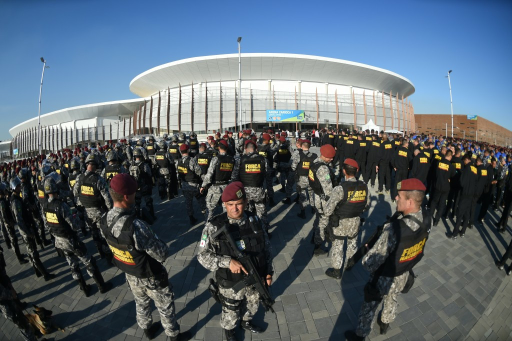 Hundreds of Brazilian National Force officers who form part of the security force for next month's Olympic Games in Rio de Janeiro have threatened to quit over poor accommodation and working conditions ©Getty Images
