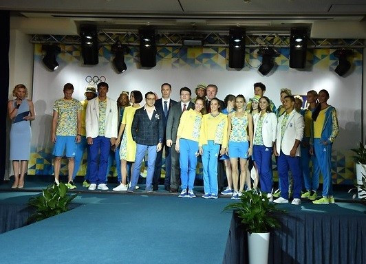 National Olympic Committee of Ukraine unveils athlete uniform for Rio 2016