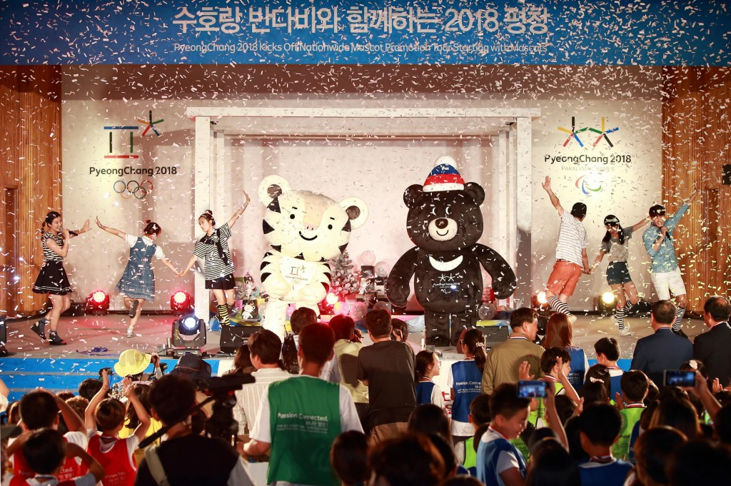 Pyeongchang 2018 begin mascot tour to spread enthusiasm ahead of Winter Olympics and Paralympics