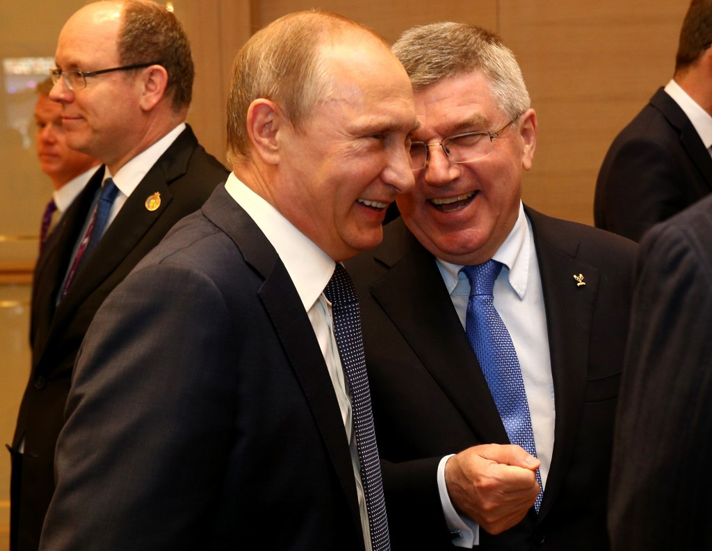 Russian President Vladimir Putin is a good friend of International Olympic Committee counterpart Thomas Bach 