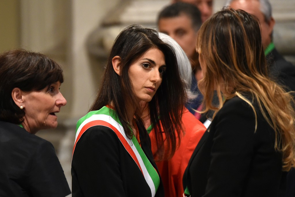 Virginia Raggi says a decision on Rome 2024 could be made in October ©Getty Images
