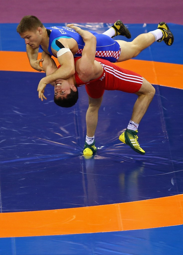 Rasul Chunayev secured a gold medal for host nation Azerbaijan in the 71kg category