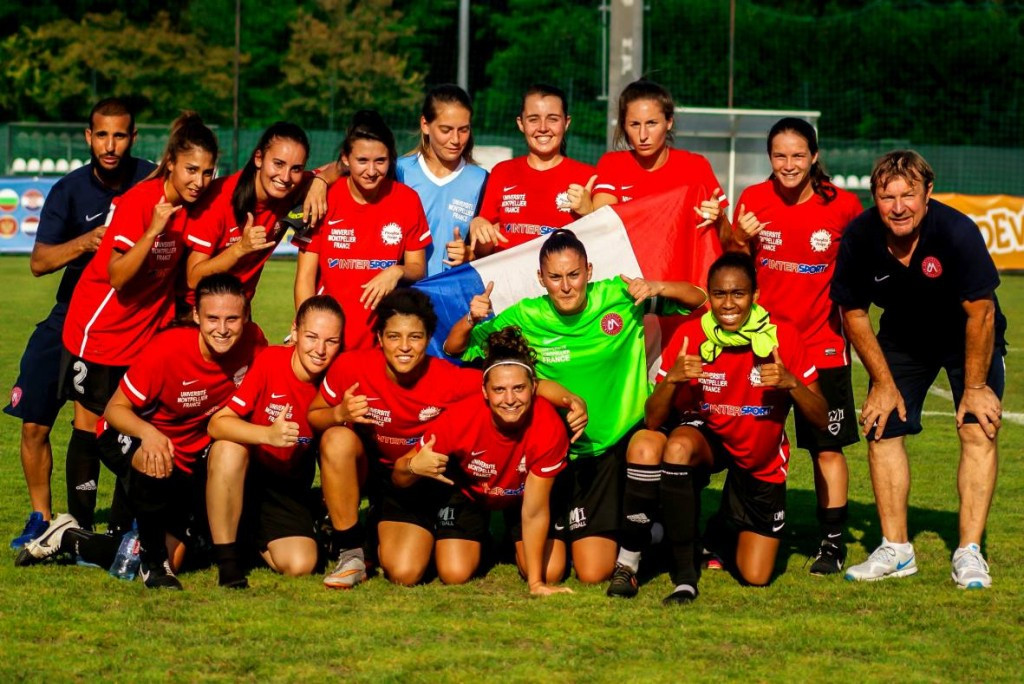 Montpellier clinch women's football gold after one sided final at European Universities Games