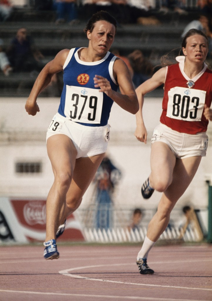 East Germany's powerhouse sprinter Renate Stecher pictured running over 200m at the 1974 European Championships ©Getty Images