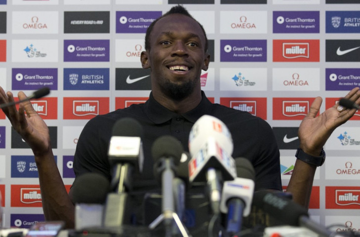 Usain Bolt told the press conference on the eve of the IAAF Diamond League meeting in London that he was fit and ready to go in his last race before the Rio Games ©Getty Images