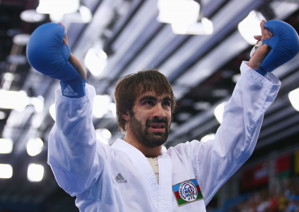 Rafael Aghayev won the second gold of the night for Azerbaijan ©Getty Images