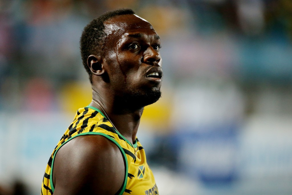 Usain Bolt was unhappy at only clocking 20.29 in winning the 200m at the IAAF Diamond League meerting in New York ©Getty Images
