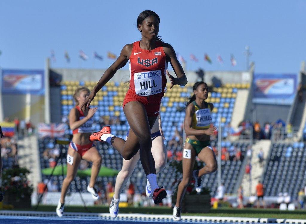 Hill secures women's world junior 100m title in Bydogoszsz
