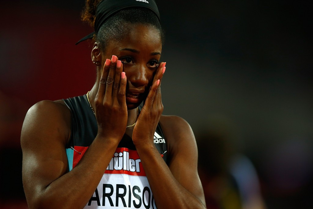 Bolt's London victory at 200m overshadowed by Harrison's eclipse of 1988 world 100m hurdles record