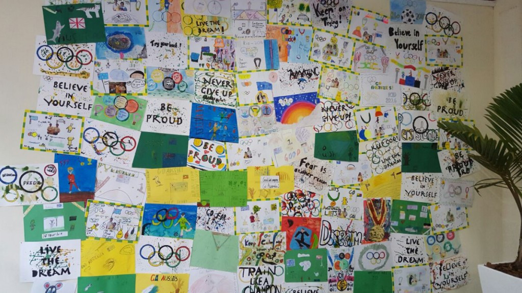 Australian Olympic Committee roll out art initiative into Rio 2016 Athletes' Village