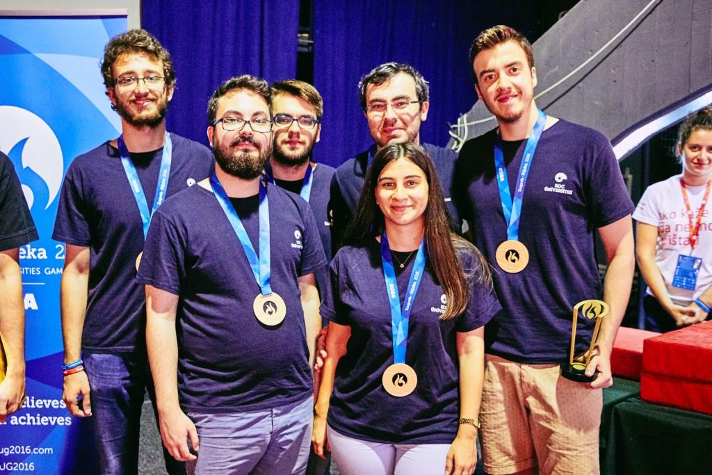 University of Potsdam claim bridge gold medal at European Universities Games