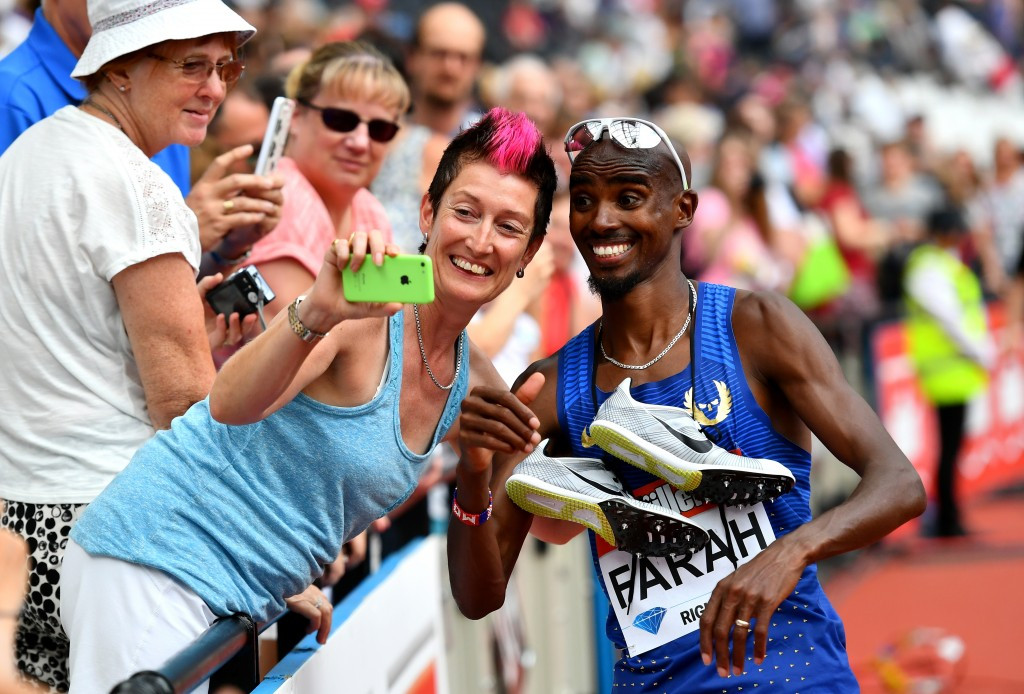 Farah digs in for 5,000m victory in London as Schippers lays down Rio marker over 200m