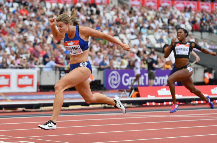World 200m champion Dafne Schippers demonstrates her power in winning the long sprint at the Muller Anniversary Games in London ©Getty Images
