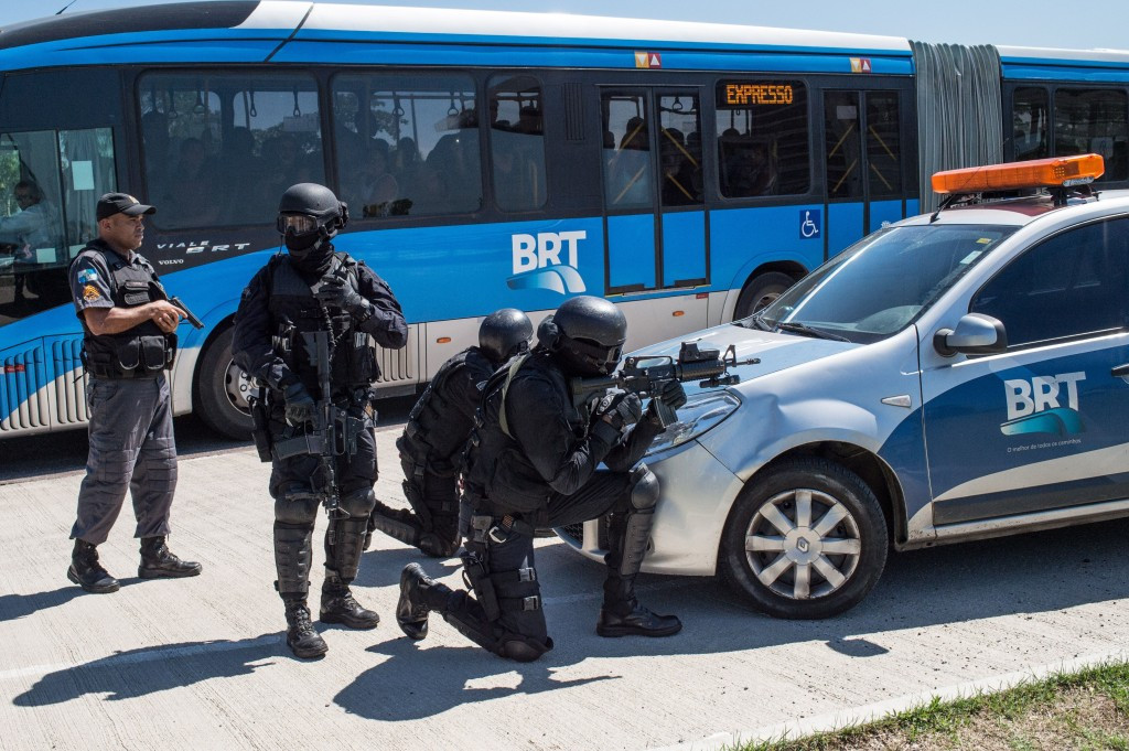 Police have carried out drills to counter threats during the Rio 2016 Olympic Games ©Getty Images